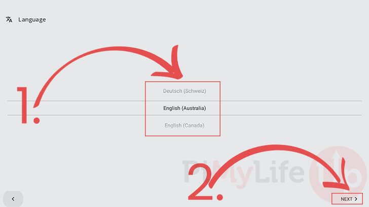 Elija el idioma de la interfaz de Android TV