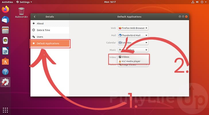 Establecer aplicaciones predeterminadas para Ubuntu 18.04