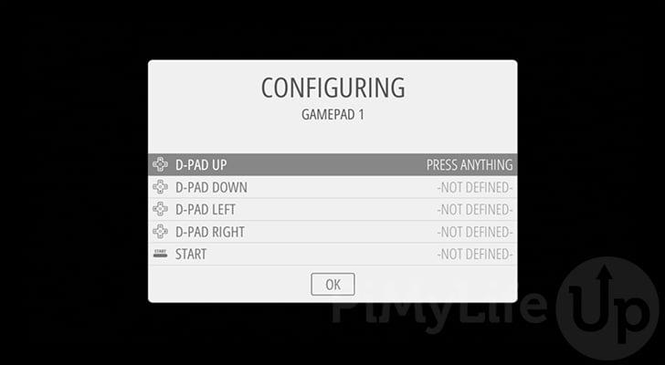 Configurar los controles del controlador